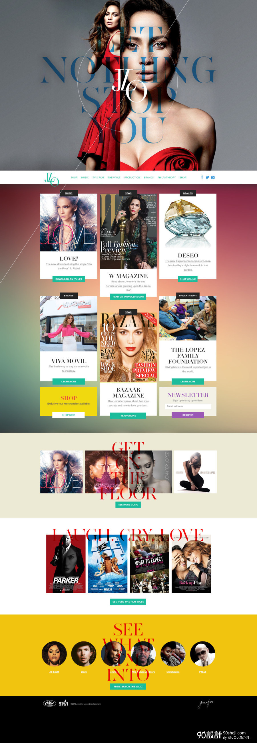 时尚页面设计_店铺首页设计